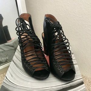Jeffrey Campbell lace up chunky heels